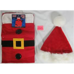 New Santa's APRON plus Plush Santa Hat