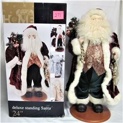 "24"" Deluxe Standing Santa Xmas Decoration - Boxed"