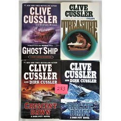 Lot of Hard cover CLIVE CUSSLER Adventure Novels/ Dust Jackets
