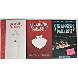 "Trio Terry Moore ""Strangers in Paradise"" Adult Soft Cover Graphic Trade Paperback"