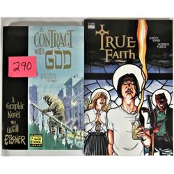 "1996 DC Comics Graphic Novel Trade Paperback Soft Cover ""Contract with God"" and 1997 DC Comics Verti"