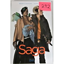 "2012 Volume 1 ""SAGA"" Adult Graphic  Soft Cover Trade Paperback Image Comics Inc."