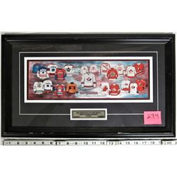 "21""x12"" Framed Matted ""OH CANADA"" Evolution Men's Team Canada Hockey Jersey"