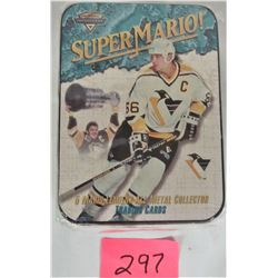 New Sealed Mario Lemieux Pittsburg Penguins Metal Collector Cards (5 in tin)