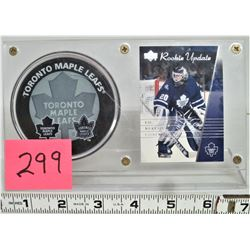 "2003 Upper Deck Rookie Update ""Ed Belfour"" Toronto, Toronto Maple Leafs Official Puck, in Plexi Glas"