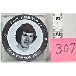 """Team Canada 1972 PAUL HENDERSON """"Photo"""" Puck"""
