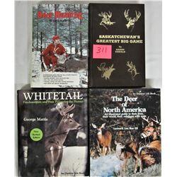 4 Deer Hunting Hard Cover Books