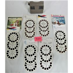 GAF Viewmaster, 6 sets of 3 picture reels each