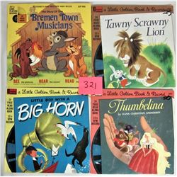 Lot of 4 Disneyland SEE-HEAR-READ Record and Books
