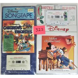 "New Disney Christmas - Readalong ""Mickey's Christmas Carol"" Cassette Tape, New Disney ""Children's Fa"