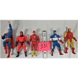 "Lot of 5 1985 4"" SECRET WARS Action Figurines"