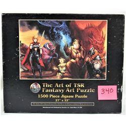 """Rare 1995 TSR 1500 piece 27""""x33"""" Fantasy Art Puzzle"""