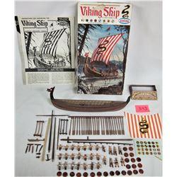 "Rare 1964 AURORA ""Viking Ship"" Plastic Model Kit"