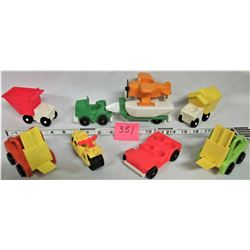 Lot of Vintage Fisher Price Little People Vehicles