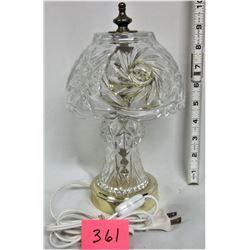 """10"""" Pinwheel Crystal Boudoir Lamp"""