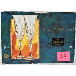 Boxed Set of 4 Salzburg Crystal