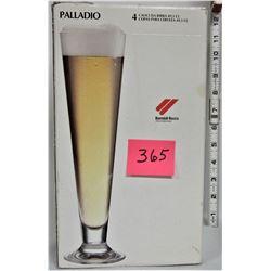 """Boxed Set of (4) 17 1/4"""" PILSNER Beer Glasses"""