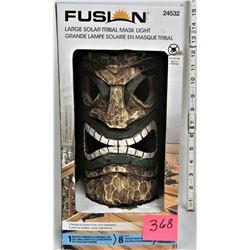 """Boxed 12"""" Tribal Mask Solar Light"""