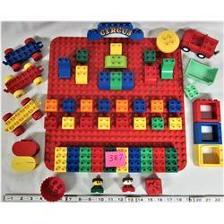 Huge Lot of Vintage LEGO DUPLO Baseplate - bricks and pieces