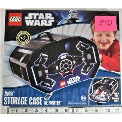 """New 2011 LEGO STAR WARS """"Tie Fighter"""" Zipbin Storage Case"""