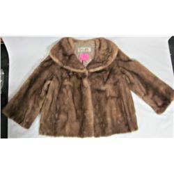 Vintage Ladies SWEARS AND WELLS Brown Mink Fur Jacket