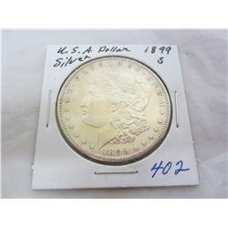 Morgan Silver Dollar 1899 S