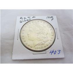 Morgan Silver Dollar 1900 P