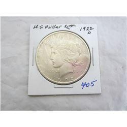 Peace Silver Dollar 1922 D
