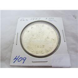 Canadian Silver Dollar 1937