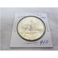 Canadian Silver Dollar 1949