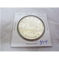 Canadian Silver Dollar 1960