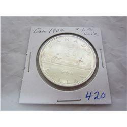 Canadian Silver Dollar 1966