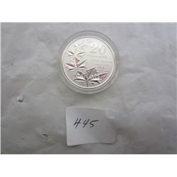 Canadian 2011 $ 20 Dollar Maple Leaf Sterling Coin