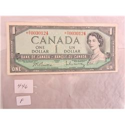 1954 One Dollar Replacement Note