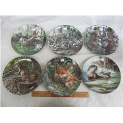 6 Collectors Plates Kevin Daniels Friends of the Forest with boxes COA