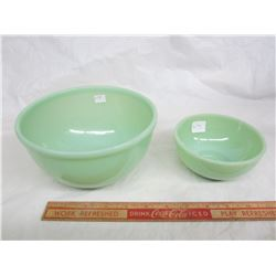 Lot of 2 Fire King Style Jadeite Bowls