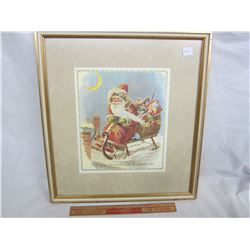 Framed Christmas picture from antique book