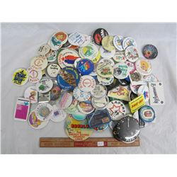 Large Lot of pin back buttons