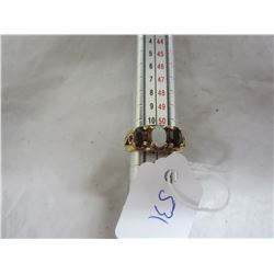 Ladies Antique 10 kt Gold Ring Rubies and Opal