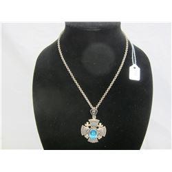 Sterling Silver Crusaders Cross Necklace 27 grams
