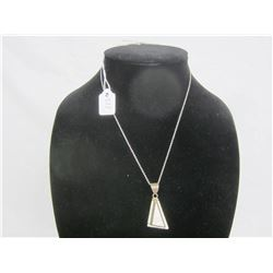 Sterling Silver Necklace with Pendant 9 grams