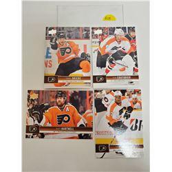 Lot of 4 Philadelphia Flyers NHL Hockey Cards. Includes Daniel Briere & Steve Hartnell. Upper Deck 2