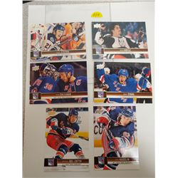 Lot of 6 New York Islanders NHL Hockey Cards. Includes Derek Stepan, Brian Boyle & Marc Staal. Upper