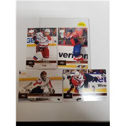 Lot of 4 Washington Capitals NHL Hockey Cards. Includes Braden Holtby & Mike Green. Upper Deck 2012.