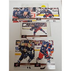 Lot of 5 Columbus Blue Jackets NHL Hockey Cards. Includes Ryan Johansen & R.J. Umberger. Upper Deck