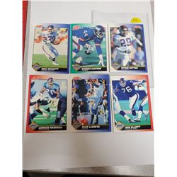 Lot of 6 New York Giants NFL Football Cards. Includes Dave Meggett & Maurice Carthon. 1991 Score. Ge
