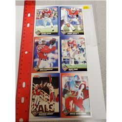 Lot of 6 New England Patriots NFL Football Cards. Includes Irving Fryar & Andre Tippett. 1991 Score.