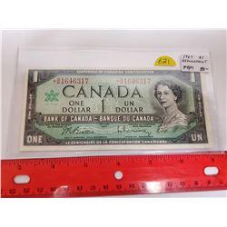 1967 $1 Replacement note. Beattie-Rasminsky signatures. *B/M prefix. VF-30.