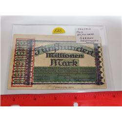 Crefeld, Germany 1923 500,000 Mark. German Inflationary Money.
