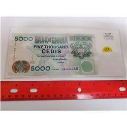 Ghana 2000 5000 Cedis. VF+.